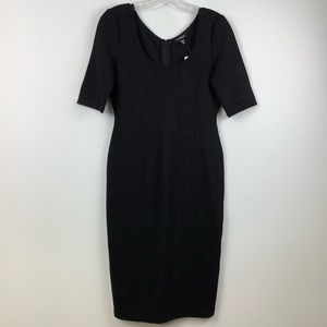 NWT Le Chateau Exposed Seam Bodycon Dress in Black